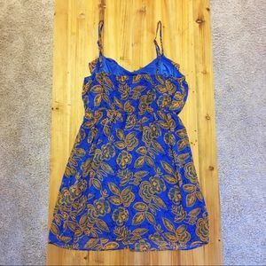 Forever 21 Dresses - Gorgeous blue and mustard dress with ruffle detail
